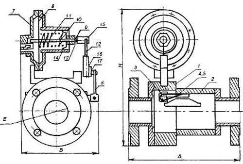 Клапан предохранительный запорные КПЗ-600